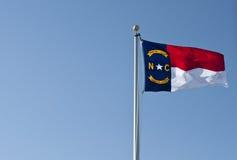 norr tillstånd för carolina flagga Royaltyfria Bilder