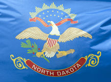 norr tillstånd för dakota flagga royaltyfri foto