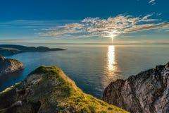 Norr udde i Finnmark, nordliga Norge royaltyfri bild