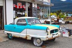 Norr väghandelstolpe, Clinton, F. KR., Kanada Arkivfoton