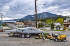Norr väghandelstolpe, Clinton, F. KR., Kanada Royaltyfri Bild