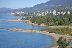 Norr Vancouver och Shoreline Royaltyfri Foto