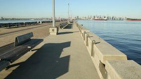 Norr Vancouver, pir Burrard för torr skeppsdocka Royaltyfria Foton