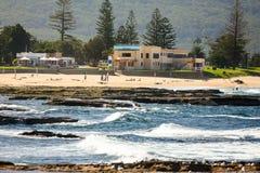 Norr Wollongong strand, Australien Royaltyfri Bild