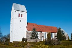 Norre Tranders kyrka i Aalborg Danmark Royaltyfri Bild
