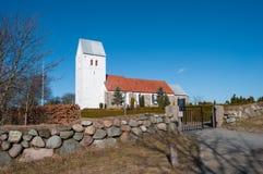 Norre Tranders kyrka i Aalborg Danmark Arkivfoto