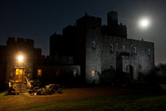 Norris Castle. With the full moon stock photo