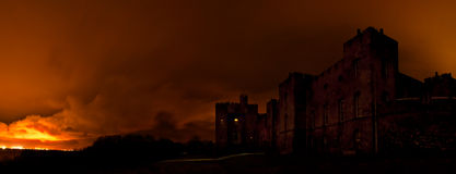 Norris Castle. Mysterious dark castle in the night Stock Photography
