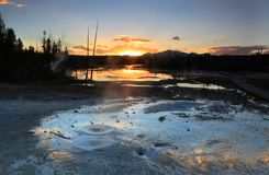 Norris Geyser Basin Royalty Free Stock Photos