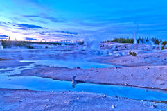 Norris Geyser Basin after Sunset Stock Photos