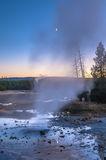 Norris Geyser Basin after Sunset Royalty Free Stock Image