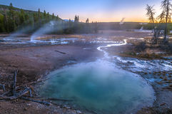 Norris Geyser Basin after Sunset Royalty Free Stock Photos