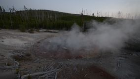 Norris Geyser Basin after Sunset Royalty Free Stock Images