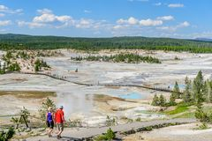 Norris Geyser Basin stock photos