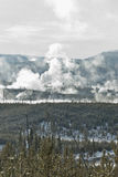 Norris Geyser Basin, Winter, Yellowstone NP Stock Photo