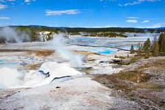 Norris Geyser Basin in Yellowstone Stock Photo