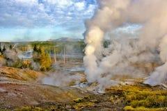 Norris Geyser Basin, Yellowstone fotografia stock libera da diritti