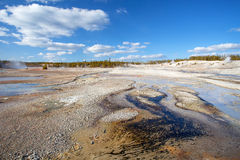 Norris Geyser Basin, Yellowstone Nationalpark Lizenzfreies Stockbild