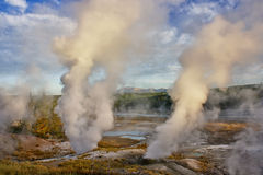 Norris Geyser Basin, Yellowstone Stock Image