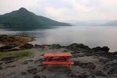 Norris Point Picnic Area Stock Photo