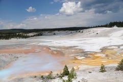 norris yellowstone гейзера тазика стоковая фотография