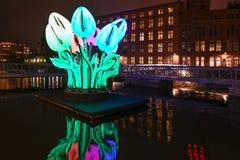 Norrköping Light Festival 2018 royalty free stock image