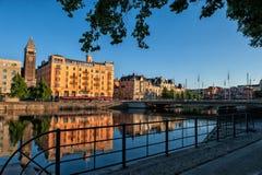 Norrkoping και ρεύμα Motala Στοκ εικόνα με δικαίωμα ελεύθερης χρήσης