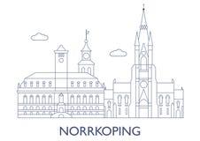 Norrkoping, as construções as mais famosas da cidade Foto de Stock Royalty Free