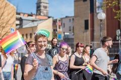 Norrkoping Pride Parade 2016 Foto de archivo libre de regalías