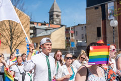 Norrkoping Pride Parade 2016 Photographie stock