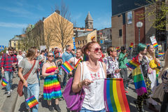 Norrkoping Pride Parade 2016 Images libres de droits