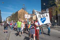 Norrkoping Pride Parade 2016 Imagen de archivo libre de regalías