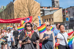 Norrkoping Pride Parade 2016 Royalty Free Stock Photos