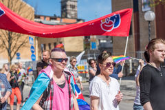 Norrkoping Pride Parade 2016 Royalty Free Stock Photography
