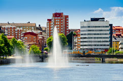 Norrkoping. Sweden. View of Norrkoping city. Ostergotland, Sweden Stock Photography