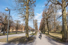 Norrkoping, Sweden. April 19, 2017: The Northern Promenade in Norrkoping  on a spring day in April. The three Promenades in Norrkoping were inspired by Paris Stock Photo