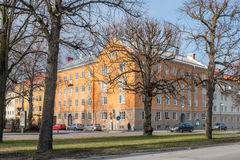 Norrkoping, Sweden. April 19, 2017: The Northern Promenade in Norrkoping  on a spring day in April. The three Promenades in Norrkoping were inspired by Paris Royalty Free Stock Photo