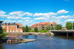Norrkoping. Sweden. View of Norrkoping town. Ostergotland, Sweden, Scandinavia, Europe Stock Images