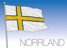 Norrland regional flag, Sweden, vector illustration royalty free stock photography
