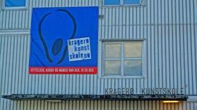Norrman Art School, Kragero, Norge royaltyfri foto