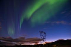 Norrsken eller nordliga ljus, Island Royaltyfri Fotografi