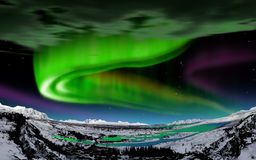 Norrsken Island Royaltyfri Bild