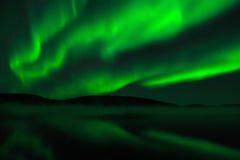 Norrsken - nordliga ljus Arkivbild