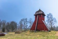 Norrsunda, Suède - 1er avril 2017 : Église de Norrsunda, Suède Photographie stock