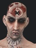 Norse getatoeeerde skinhead Royalty-vrije Stock Foto's