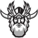 Norse God Odin Head Retro Stock Photo