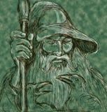 Norse God Odin spear ravens Royalty Free Stock Photo