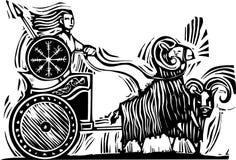 Norse Goddess Frigg vector illustration