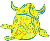 Norseman Viking Beard Etching Stock Image