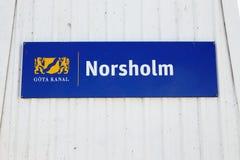 Norsholm-Zeichen Lizenzfreie Stockbilder